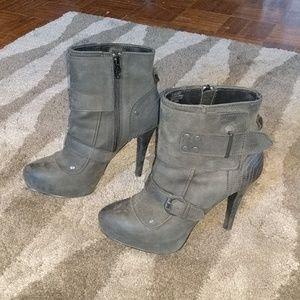Ash Egoist dark grey cuff booties size 9
